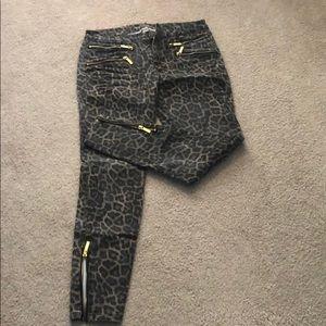 Michael Kors leopard print jeans